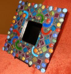 Funky Mosaic Wall Mirror by StarStruckMosaics on Etsy, $50.00