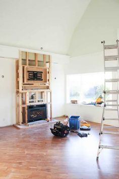 One Room Challenge {Week Three}: Fireplaces, Painting, and Repainting - Love Create Celebrate Reface Fireplace, Stacked Stone Fireplaces, Challenge Week, Farmhouse Plans, Next At Home, Room Paint, Traditional House, Decoration, Sofa