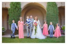 Photo by Nichole V Photography Thanksgiving Point Wedding #BradyBunch #blendedfamily #weddingparty #wedding