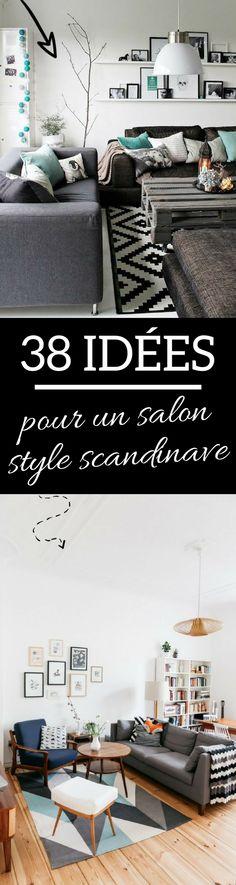 Cliquez et découvrez 38 idées & inspirations pour un salon style scandinave. Le charme nordique dans la décoration de votre salon...