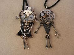 Mrs M and Mr S finally meet. Steampunk Jewelry by Tsouros https://www.facebook.com/KosmimaTsouros