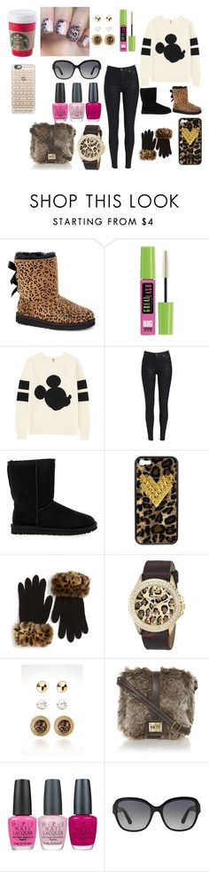 """""""you can't buy happiness but you can buy cupcakes and thats kinds the same thing"""" by victoriahix on Polyvore featuring UGG Australia, Maybelline, Uniqlo, Wildflower, Parkhurst, XOXO, Avenue, OPI, Michael Kors and Casetify"""