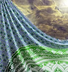 Ombre Mandala Tapestries Boho Bedspread Hippie Wall Hanging Throw Indian Decor@@ #Unbranded #ArtDecoStyle #BedspreadWallHangingHomeDecor