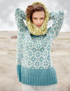Ravelry: # 11 Pullover mit Jacquardmuster pattern by Rebecca Design Team Folk Fashion, Knit Fashion, Fair Isle Knitting, Hand Knitting, Diy Knitting Cardigan, Knit Hats, Knitted Bags, Knitting Designs, Pulls