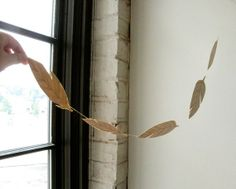 feather garland...or whatever garland, made from paper and wax.