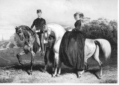 KAISERIN ELISABETH RIDES SIDESADDLE ARABIAN HORSE