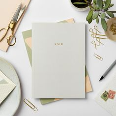 Personalise this Katie Leamon Grey notebook with your chosen initials in gold foil. Cute Stationery, Stationery Design, Branding Design, Corporate Branding, Menu Design, Logo Branding, Brand Identity, Design Design, Logo Design