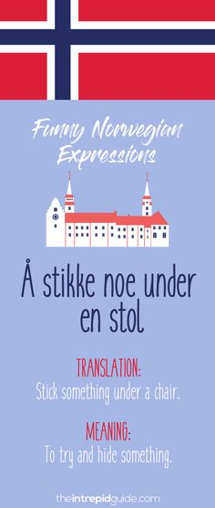Norwegian Sayings and Idioms - Å stikke noe under en stol