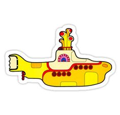 """""""The Beatles """"Yellow Submarine"""" Sticker"""" Stickers by leit   Redbubble"""