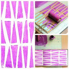 Foam pieces printmaking art project