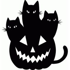Silhouette Design Store: jack o lantern cats