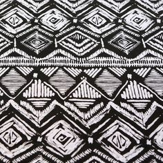 Black and White Tribal Ethnic Print