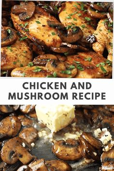 Simplify your weeknight dinner with this Chicken and Mushroom Recipe. It requires little effort. Make this recipe in 20 minutes! Gluten Free Recipes For Breakfast, Best Gluten Free Recipes, Whole 30 Recipes, Dinner Recipes, Healthy Recipes, Mushroom Sauce For Chicken, One Pan Chicken, Keto Chicken, Yummy Chicken Recipes