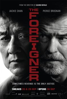 Take a look tot hose two new official posters The Foreigner, the upcoming action thriller movie directed by Martin Campbell and starring Jackie Chan and Pierce Brosnan: Films Hd, Hd Movies, Movies To Watch, Movies Online, Movie Tv, Movie Titles, Pierce Brosnan, Jackie Chan, Casino Royale
