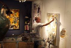 Christopher Mathie in his studio