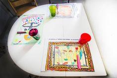 mantelitos para mesa de dibujos infantiles