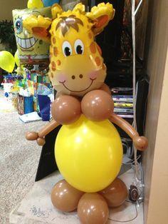 giraffe buddy tangled balloon decor starts at $ 40 00