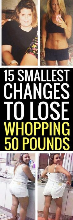 15 smallest changes to lose biggest weight for good.