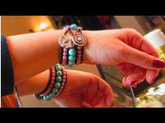 Chic Beaded Cuff Bracelet - 3 row - DIY - YouTube