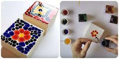 Come fare un mosaico finto con colla vinilica e colori per vetro. Tutorial con spiegazioni per realizzarlo.