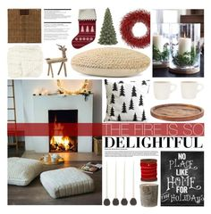 """""""Winter Decor: The Fire is So Delightful"""" by emmy ❤ liked on Polyvore featuring interior, interiors, interior design, home, home decor, interior decorating, Europe2You, OKA, Arche and Moltex"""