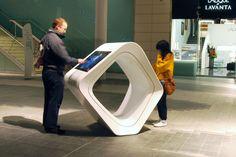 Information terminal, Westfield Shopping Centre, London - Design PearsonLloyd