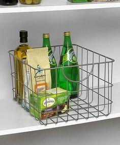 Another great find on #zulily! Satin Nickel Utility Basket #zulilyfinds