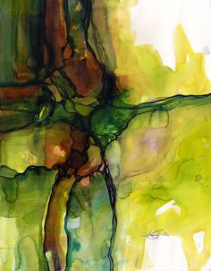 Calm Travels... Large Original contemporary painting by Kathy Morton Stanion