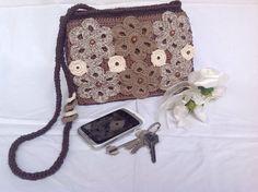 MIX CHOCOLATE borsa con tracolla con fiori : Borse a tracolla di bags-dream-team