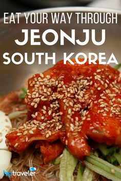 A travel guide to Jeonju, South Korea with a foodie focus. Tips on what to eat, where to find the best South Korean food, and other top things to do and see in the city. Best of food travel in Asia. South Korea Travel, Asia Travel, South Korean Food, Jeonju, Food Tasting, Food Travel, International Recipes, Street Food, Traveling By Yourself