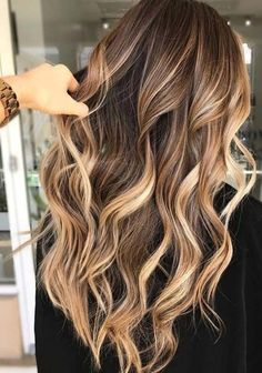 Color Ombre Hair, Blonde Ombre Hair, Ash Brown Hair Color, Blonde Balayage Highlights, Balayage Ombré, Brunette Color, Balayage Brunette, Light Brown Hair, Hair Color Balayage