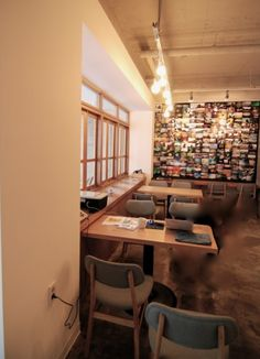 korean interior design - Vintage cafe, afe interiors and Korea on Pinterest