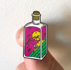 Image of Bottle Pin. Designed by Nemanja Bogdanov.