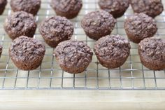 If these muffins look familiar, you might recognize them from the June newsletter. But after taking some on a recent road trip and havinga reader request the recipe, I realized that I needed to share them here. They are a cocoa version of this Banana Snack Cake, which remains one of our all-time fa