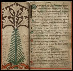 tree - from the 'Liber Floridus' (Book of Flowers), regarded as the first…