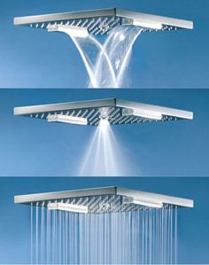 Charade square oversized shower head by Fornara & Maulini - the Multifunction shower head