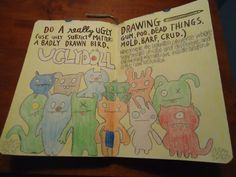wreck this journal do a really ugly drawing - Google Search