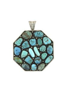 Unsigned Turquoise Pendant  House of Lavande Vintage