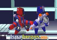 Utilizando un robot en esta aventura donde tendrás varias batallas y al mismo tiempo poder mejorar tu robot http://www.ispajuegos.com/jugar7860-Megabyte-Punch.html