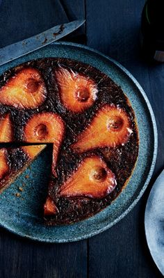 Spiced Pear Upside-Down Cake recipe: Use apples instead, if you'd like.