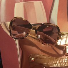 Tory Burch Authentic Peach Color Frame, Havana Brown Tory Burch Accessories Sunglasses