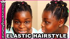 Cute Elastic Natural Hairstyles: Rubber Band Protective Style Bun https://youtu.be/5COR0UPhGKk