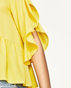 FRILLED SLEEVE TOP-NEW IN-WOMAN | ZARA United States