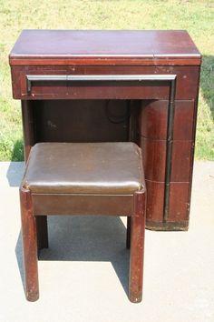 vintage cabinet for singer sewing machine