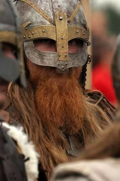 My helm shall protect my noggin, my beard... shall protect itself.