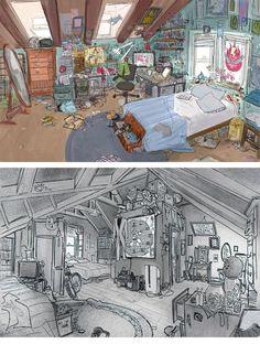 Mais artes do filme Big Hero 6, da Disney | THECAB - The Concept Art Blog: