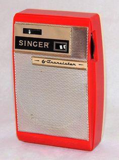 Vintage Singer AM Transistor Radio, Model 6 Transistors, Made In Japan, Circa 1963 Le Radio, Tv On The Radio, Phone Sounds, Pocket Radio, Receptor, Old Time Radio, Retro Clock, Antique Radio, Transistor Radio