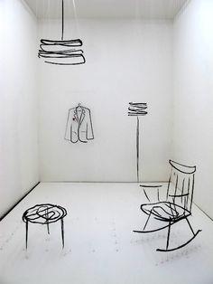 silla tipo dibujo Salone Milan 2012: A Sketch of Home in 3D at Ventura Lambrate