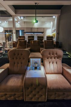 Create your own exclusive home theatre room with our majestic recliner seats!#luxury #madeinitaly #homecinema