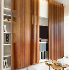 painel ripa de madeira sala ideas pinterest painel ripado ripas de madeira e ripado. Black Bedroom Furniture Sets. Home Design Ideas